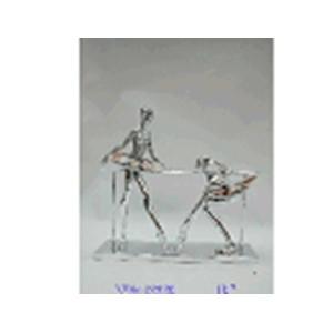 Bailarinas de resina en barra de equilibrio de 33x6x28x13cm