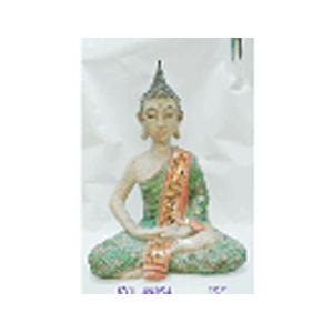 Buda de resina sentado en flor de loto de 63cm