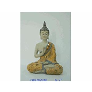 Buda de resina sentado en flor de loto de 25cm