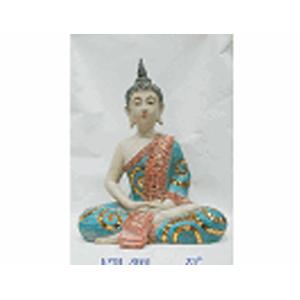Buda de resina sentado en flor de loto de 51cm
