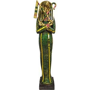 Sarcófago egipcio de resina de 10x7x37cm
