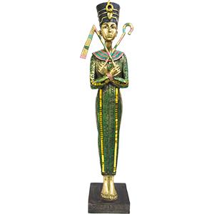 Sarcófago de Reina Egipcia de resina de 9x7x37cm