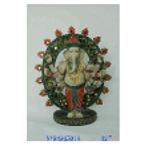 Figura de Ganesh de resina de 24x11x28cm