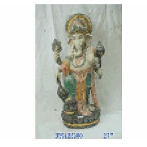 Ganesh parado de resina de 32x21x68cm