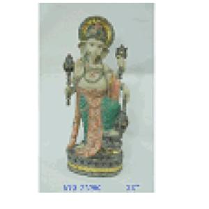Ganesh parado de resina de 24x16x55cm