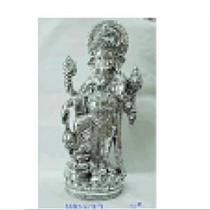 Ganesh plateado de resina de 32x21x68cm