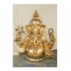 Figura de Buda dorado de resina de 91x65x109cm
