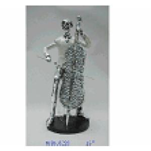 Hombre tocando el Violín de resina de 16x12x31cm