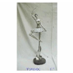 Bailarina Plateada de resina de 25x16x80cm