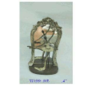 Bailarina con espejo de resina 22x11x35cm