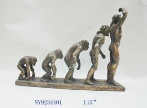 Escultura de Evolución del Hombre de 35x12x26cm