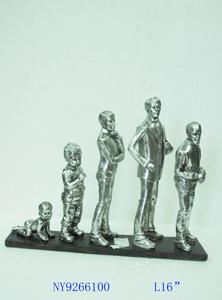 Escultura de ciclo de vida del Hombre de 35x12x26cm