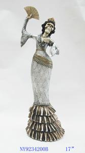 Figura de catrina bailando de 16x13x43cm