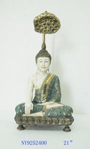 Buda sentado con lampara de 23x16x51cm