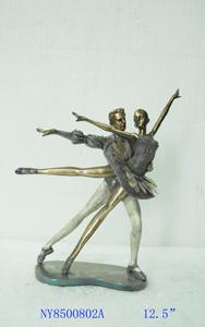 Figura de Bailarines dorados 24x14x32cm
