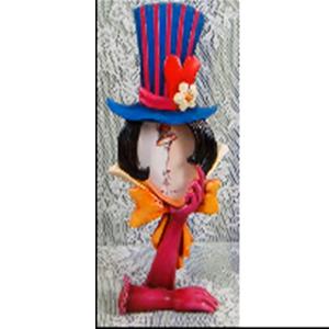 Portarretratos diseño Guantes y sombrero de 12x6x26cm