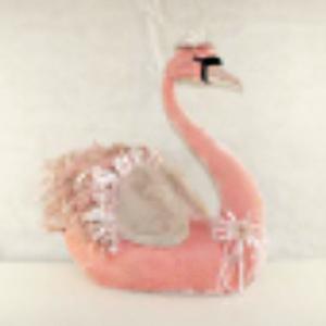 Cisne rosa de 73x45x73cm