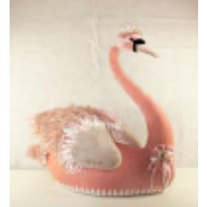 Cisne rosa de 88x45x90cm