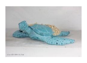 Tortuga marina azul de polirsina de 45x49x14.5