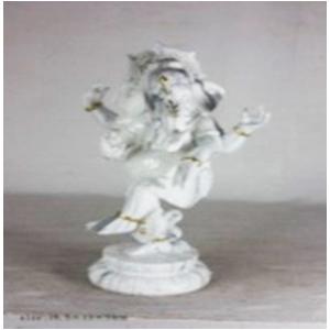 Ganesh de resina parado diseño Mármol de 26x13x19cm