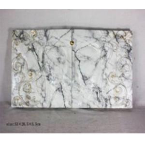 Juego de dos cuadros de pared diseño buda tipo mármol blanco de 53x36x5cm