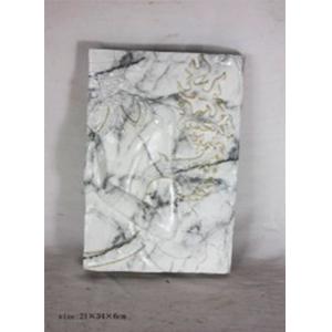 Cuadro de pared diseño buda tipo mármol blanco de 21x34x6cm