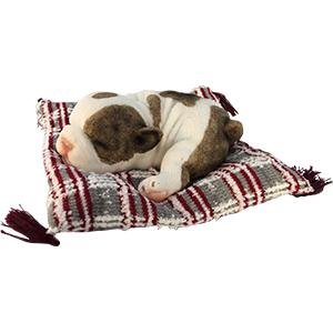 Cojín con perro dormido de 22x23x9cm