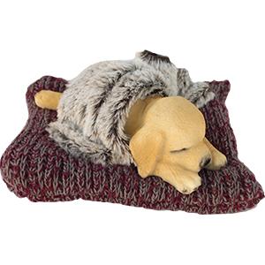 Cojín con perro dormido de 15x16x7cm