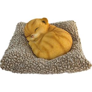 Cojín con Gato dormido de 25x22x14cm