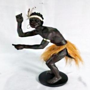 Figura de Hombre africano de 20x11x31cm