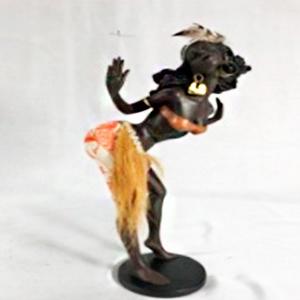 Figura de Mujer africana de 15x12x29cm