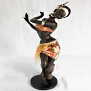 Figura de Mujer africana de 19x13x37cm