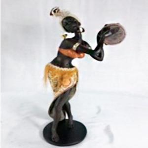 Figura de Mujer africana de 21x13x39cm