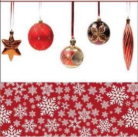 Paquete de 20 servilletas diseño esferas navideñas de 33x33cm