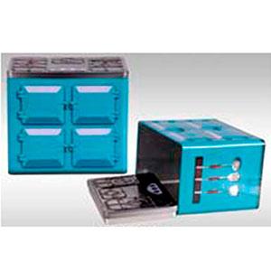 Caja de lámina con tapa diseño Estufa azul de 20x13x17.5cm