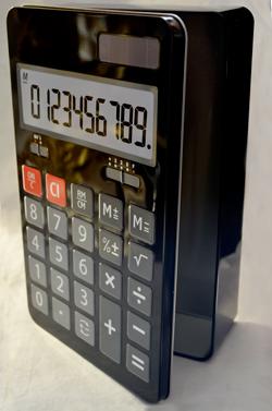 Caja de Lamina diseño Calculadora de 27x17x7cm