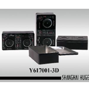 Caja de lámina diseño Mezclador de música de 26x13x8cm
