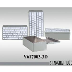 Caja de lámina diseño teclado de computadora de 26x13x8cm