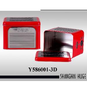 Caja de lámina diseño Tostador rojo de 20x15x15cm