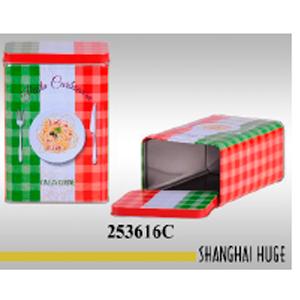 Caja de lámina diseño Bote de pasta de 12x9x18cm
