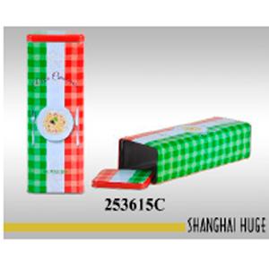 Caja rectangular de lámina diseño bote de pasta de 9x7x27cm