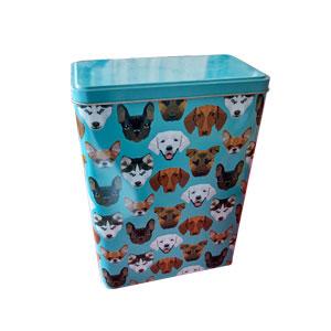 Caja de lámina diseño Perros de 17x9x24cm
