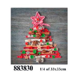 Paquete de 20 servilletas estampado de Árbol de Navidad