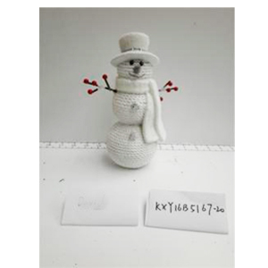 Muñeco de Nieve de resina con diamantina de 12x6.5x13.5cm