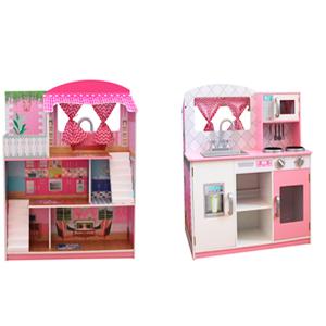 Cocina y Casa de muñecas (doble vista) 71x46x84cm