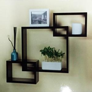 Decoración de pared diseño cuadros con entrepaños