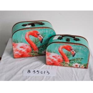 Maletín diseño flamingos de 33x12x20cm