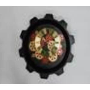 Reloj de pared negro diseño engranes de colores de 47.5x47.5x7.0cm