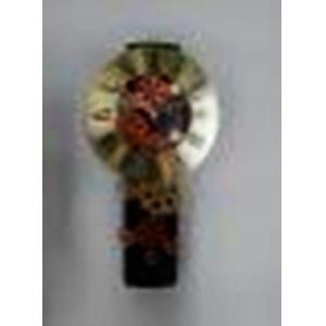 Reloj de pared negro diseño engranes de colores de 39x21x6cm