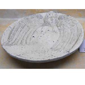 Plato con diseño de Angel blanco de 30x30x5cm